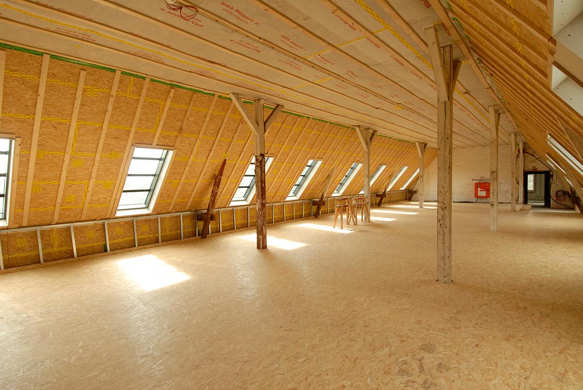 Dachboden-Innenansicht